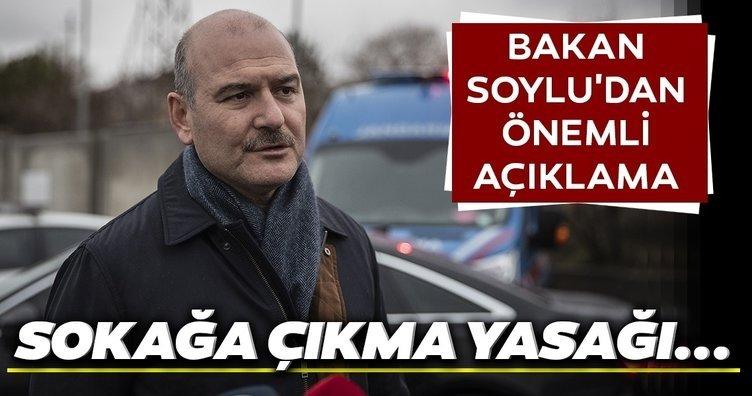 Son Dakika Haberi: Türkiye'de sokağa çıkma yasağı gelecek mi? İçişleri Bakanı Süleyman Soylu'dan sokağa çıkma yasağı ile ilgili açıklama geldi