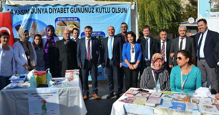 Kırıkkale'de 'dünya diyabet günü' etkinliği