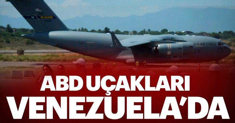 ABD'nin yardım uçakları Venezuela sınırında