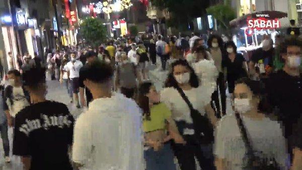 Taksim Meydanı ve İstiklal Caddesi'nde korkutan kalabalık   Video