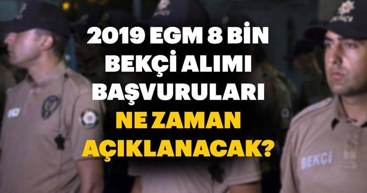 Bekçi alımı başvuru sonuçları EGM tarafından ne zaman ve hangi gün açıklanacak? 2019 Bekçilik başvuruları son durum bilgisi