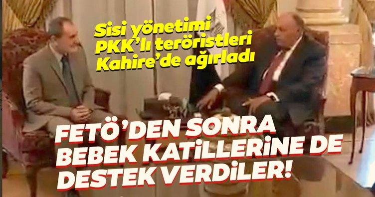 Darbeci Sisi yönetimi PKK'lı teröristleri Kahire'de ağırladı!