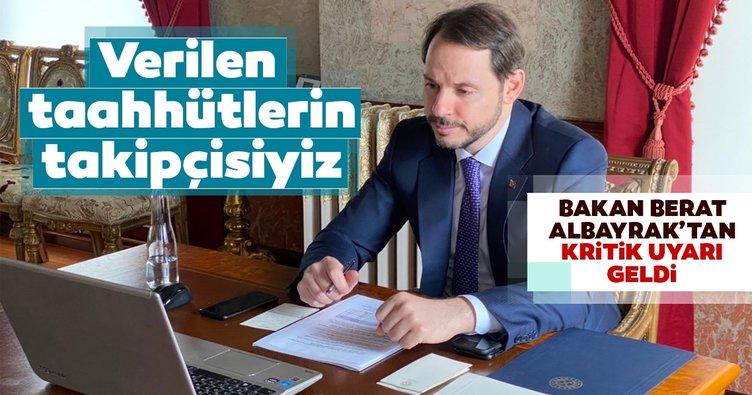 Hazine ve Maliye Bakanı Berat Albayrak: Takipçisiyiz