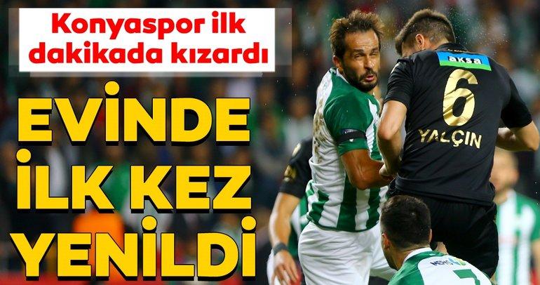 Konyaspor ilk dakikada kızardı,Yeni Malatyaspor'a direnemedi