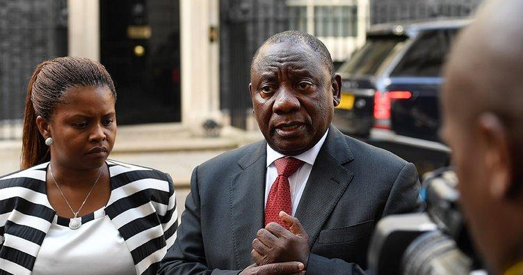 Protestolar üzerine Güney Afrika Devlet Başkanı Ramaphosa ülkesine geri döndü