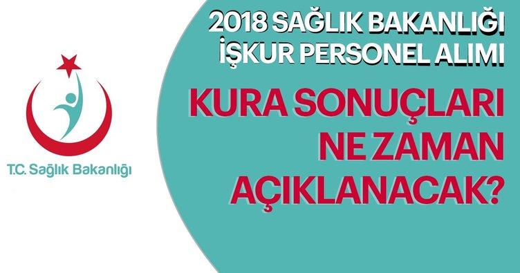 Sağlık Bakanlığı kura sonuçları ne zaman açıklanacak? 2018 İŞKUR ile Sağlık Bakanlığı personel alımı İstanbul Ankara nihai liste
