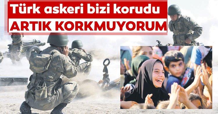 Türk askeri bizi korudu artık korkmuyorum