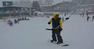 Uludağ'da kar kalınlığı 255 santimetre!