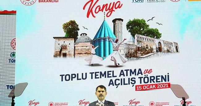 Bakan Murat Kurum: Konya'yı dünyanın en güzel şehirlerinden birisi yapacağız