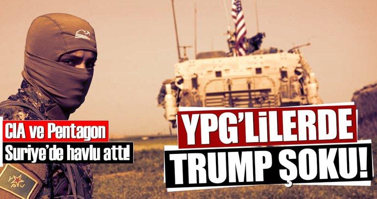 YPG'lilerde Trump şoku!