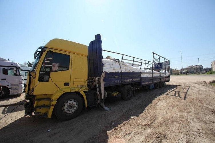 Suriye'de saldırıya uğrayan Türk tırları