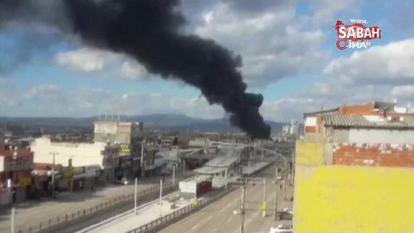 Hurdalık alanda korkutan yangın | Video