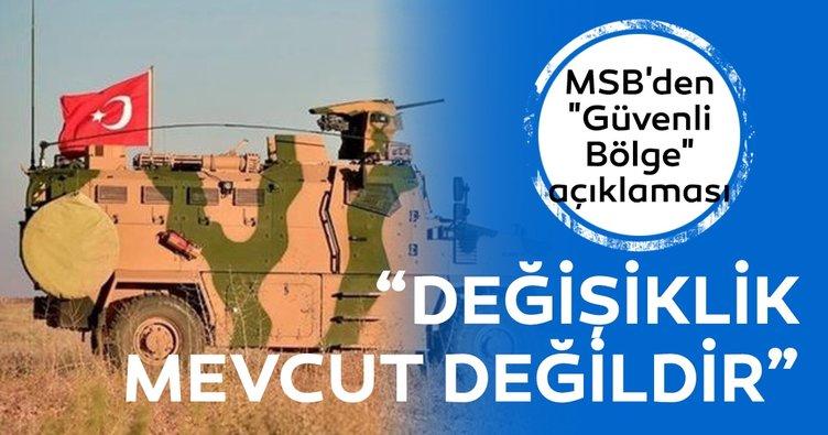 MSB'den güvenli bölge açıklaması