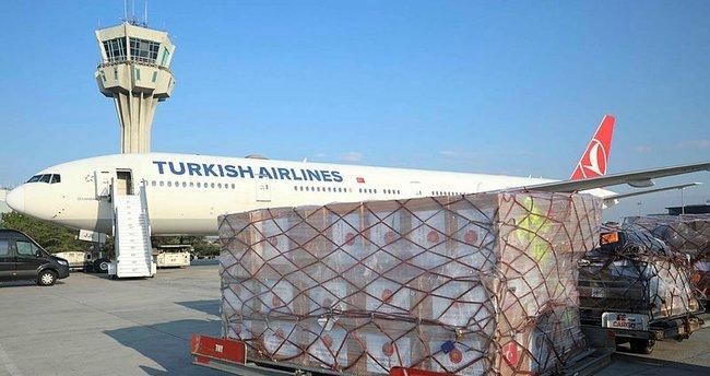 Türkiye'den Ukrayna'ya yardım malzemeleri ulaştı