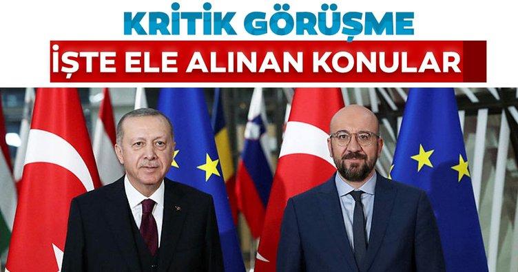Son dakika: Başkan Erdoğan, AB Konseyi Başkanı ile görüştü