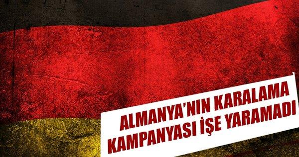Almanya'nın karalama kampanyası işe yaramadı