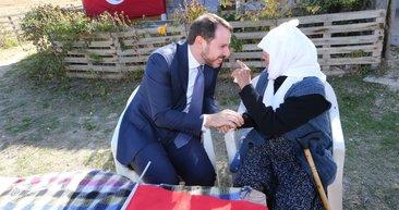 Bakan Albayrak'tan Hesna Nine'ye ziyaret!