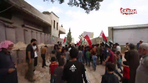 İdlib halkından Türkiye'ye destek gösterileri | Video