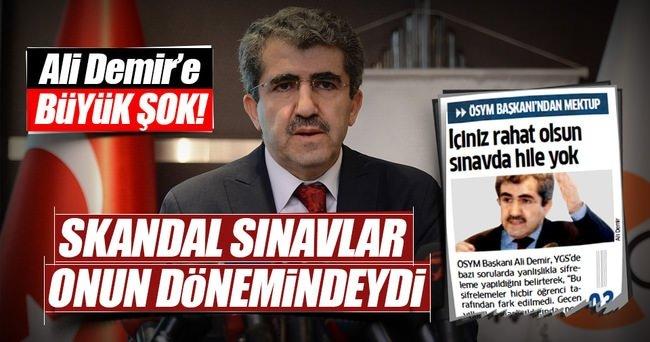 Eski ÖSYM Başkanı Ali Demir'e FETÖ davası