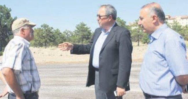 Nevşehir'de sıcak asfalt
