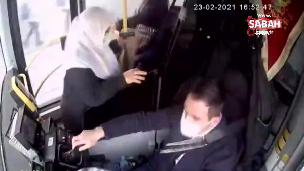 Beylikdüzü'nde otobüs içerisinde feci kaza kamerada | Video