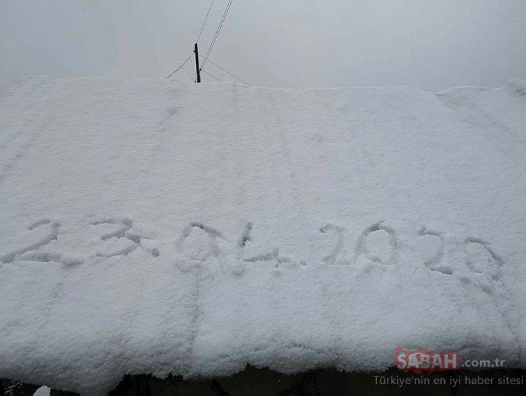 Rize'nin yüksek kesimlerine Nisan ayında kar yağdı