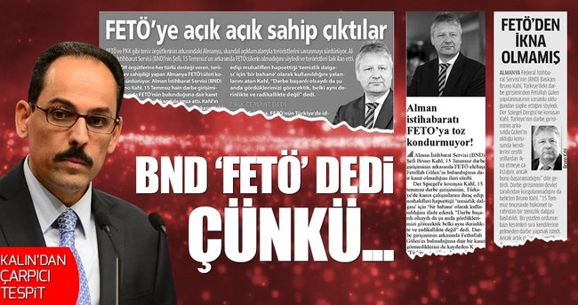 Cumhurbaşkanlığı Sözcüsü İbrahim Kalın: FETÖ'ye sahip çıkıyorlar çünkü...