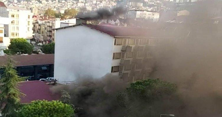 Trabzon İl Sağlık Müdürlüğünde korkutan yangın