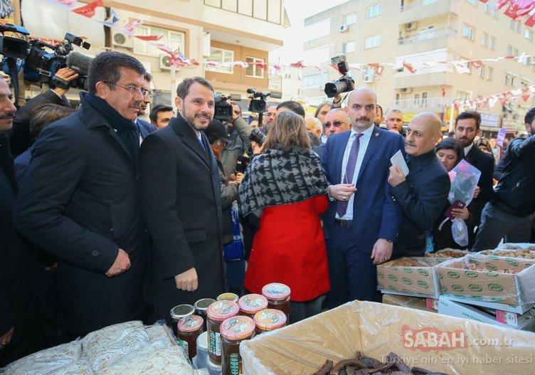 Bakan Albayrak'a İzmir'de sevgi seli! Minik Nisa'dan sürpriz