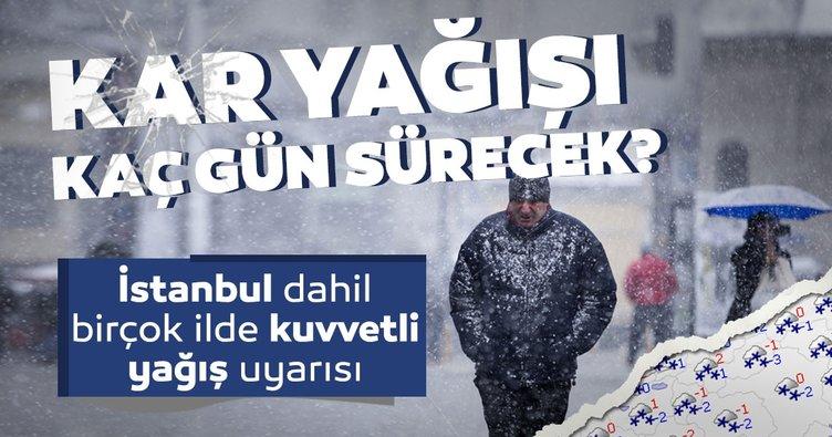 Meteoroloji'den hava durumu ile ilgili SON DAKİKA açıklaması geldi! İstanbul'da kar yağışı kaç gün sürecek?