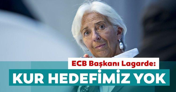 ECB Başkanı Lagarde: Dikkatle izliyoruz ancak kur hedeflememiz yok