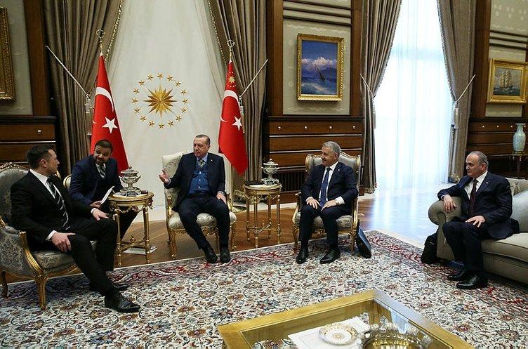 Erdoğan ile Musk'ın görüşmesi sona erdi