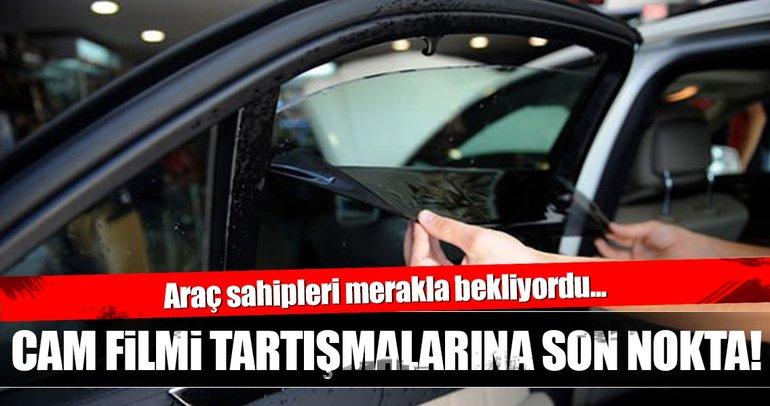 Araçlarda cam filmine % 70 şartı getiriliyor