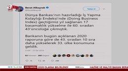 Hazine ve Maliye Bakanı Berat Albayrak'tan açıklama: Türkiye 33'üncü sıraya geldi!