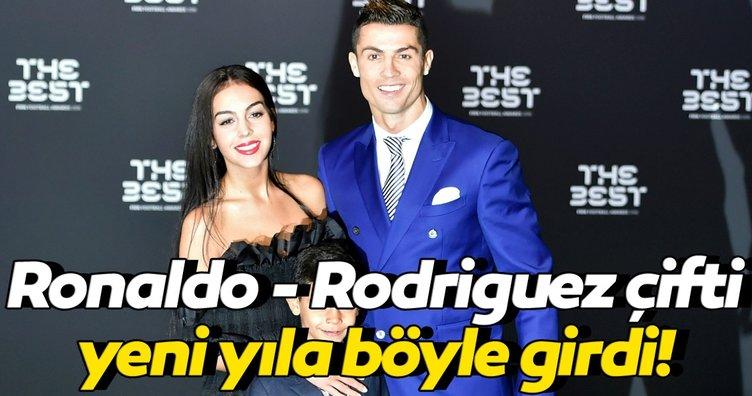 Juventus'un Portekizli yıldızı Cristiano Ronaldo 2021'e böyle girdi! Georgina Rodriguez...