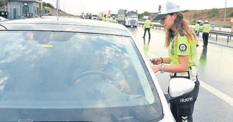 Havadan denetimde sürücülere ceza yağdı