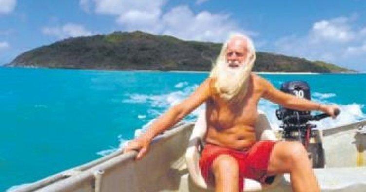Tüm parasını yitirince Robinson Crusoe oldu