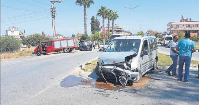 Manavgat'ta 3 kişi hafif yaralandı