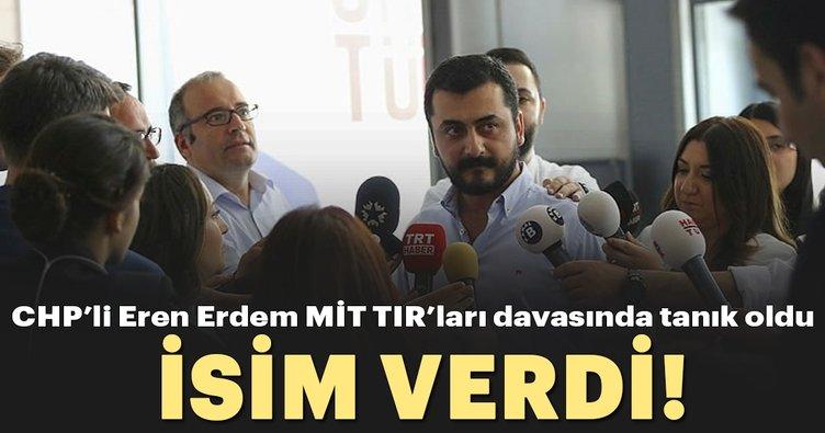 Son dakika: CHP'li Eren Erdem MİT TIR'larında tanık oldu