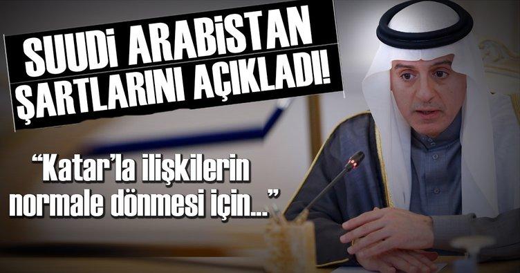 Suudi Bakan'dan Katar'a ilişkilerin düzelmesi için 5 şart