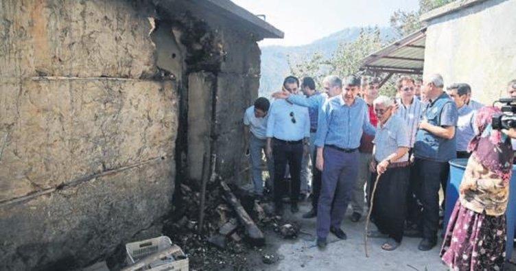 Yangınzedelere Büyükşehir yardımı