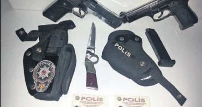 Plastik tabancalı sahte polisler