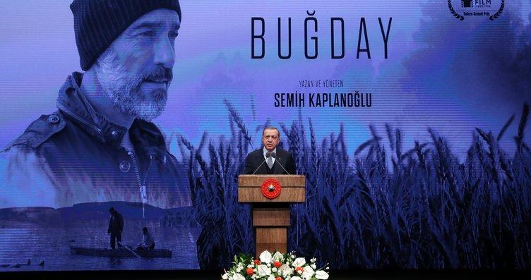 Cumhurbaşkanı Erdoğan, Buğday filminin galasına...