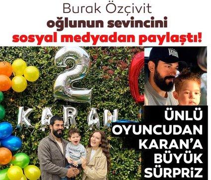 Burak Özçivit'ten oğlu Karan'a büyük sürpriz! Burak Özçivit oğlunun sevincini sosyal medyadan paylaştı!