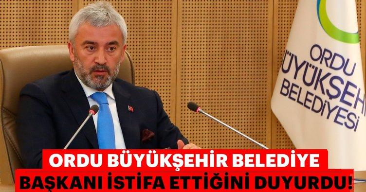 Son dakika: Ordu Büyükşehir Belediye BaşkanıEnver Yılmaz, görevinden istifa etti