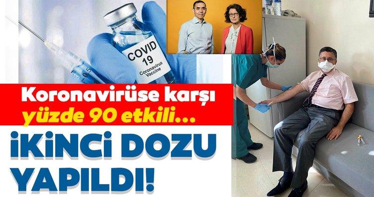 Son dakika haberi: %90 etkili corona aşısının ikinci dozu yapıldı! Türk profesör Uğur Şahin ve eşinin bulduğu aşı...