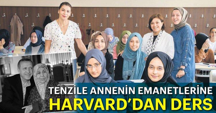 Tenzile annenin emanetlerine Harvard'dan ders