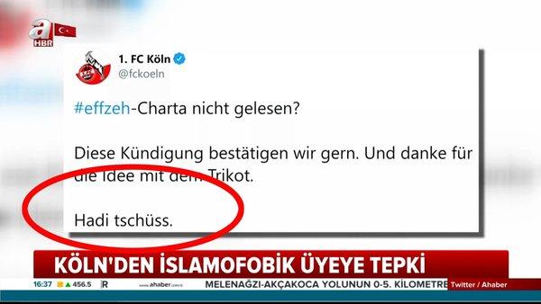 Almanya Bundesliga takımı FC Köln'den formasındaki cami silüetine kızan taraftarına flaş cevap | Video