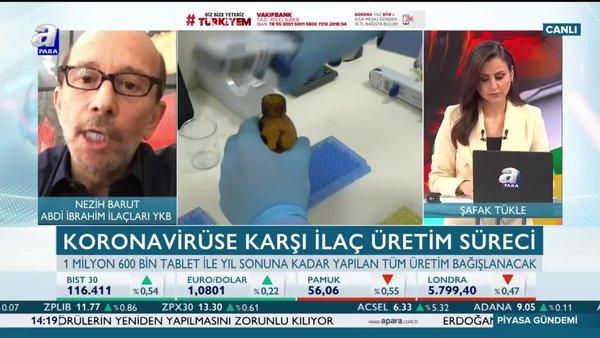 Nezih Barut: Koronavirüse karşı 1.6 milyon tableti Sağlık Bakanlığı'na teslim edeceğiz | Video