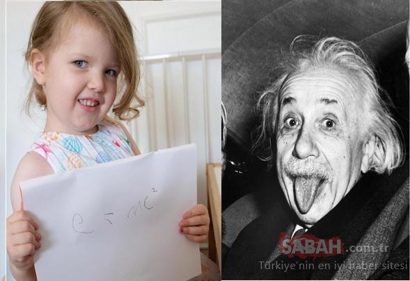 Dünya onu konuşuyor! Henüz 3 yaşında ama Einstein'i geride bıraktı